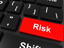 Risk keyboard button Royalty Free Stock Images