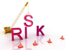 Risk letters Stock Photography
