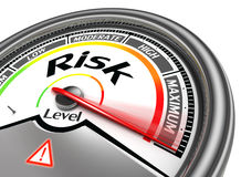 Risk level conceptual meter Royalty Free Stock Photos