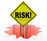 Risk Liability Danger Warning Sign Protection Prevention Royalty Free Stock Images