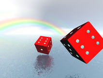 Risk and luck. Abstract background. Risk and luck. 3D render Stock Images