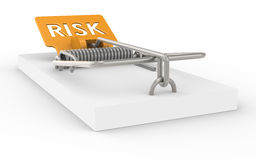 Risk Management. Mousetrap with Risk sign as Bait Royalty Free Stock Photos