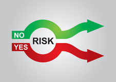 Risk management. Abstract color graphics, about risk management Stock Photos
