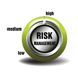 Risk management. Abstract colorful background with risk management button isolated on white background Royalty Free Stock Images