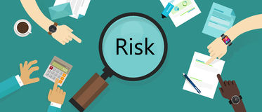 Risk management asset vulnerability assessment concept Stock Photography
