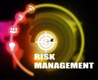 Risk Management background plan color. Risk Management color yellow red stock illustration