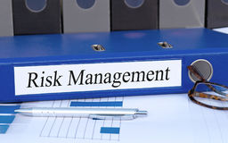 Risk Management binder in the office royalty free stock photography