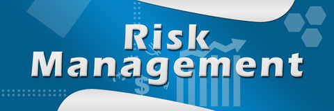 Risk Management Blue Background. Risk management text written over a blue business style background Royalty Free Stock Photography