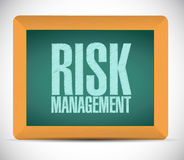 Risk management board sign illustration. Design over a white background Royalty Free Stock Images