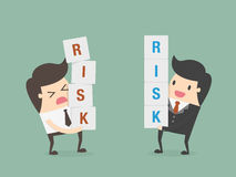 Risk management. Business concept cartoon illustration Stock Photos