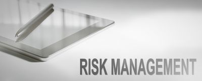 RISK MANAGEMENT Business Concept Digital Technology. Graphic Con. Cept. Business Concept royalty free stock image