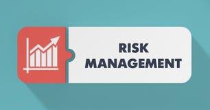 Risk Management Concept in Flat Design. Risk Management Concept in Flat Design with Long Shadows Stock Photo