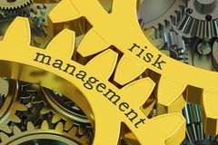 Risk Management concept on the gearwheels, 3D rendering. Risk Management concept on the gearwheels, 3D Royalty Free Stock Photography