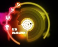 Risk Management concept plan graphic. Background Royalty Free Stock Photography