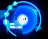Risk Management concept plan graphic. Background Stock Photos