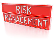 Risk Management -  3D Render. Risk Management - Red banners with text -  3D Render Royalty Free Stock Images