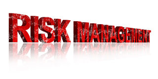 Risk Management. 3d three dimensional royalty free stock images