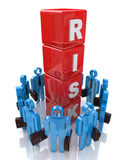 Risk Management. In the design of information related to risks in business Royalty Free Stock Photos