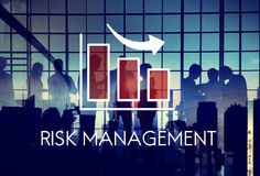 Risk Management Diagram Graph Arrow Concept. Risk Management Diagram Graph Arrow stock photo
