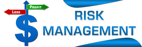 Risk Management Dollar symbol Horizontal Royalty Free Stock Photo