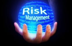 Risk Management globe background blue. Risk Management Markets globe blue globe Royalty Free Stock Image