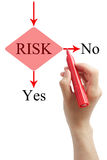 Risk Management. Hand drawing Risk Management with red marker on the white background royalty free stock photos