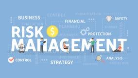 Risk management illustration. Risk management concept illustration. Idea of business and market Royalty Free Stock Images