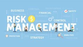 Risk management illustration. Risk management concept illustration. Idea of business and market Stock Image