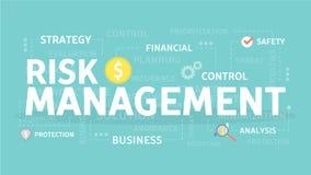 Risk management illustration. Risk management concept illustration. Idea of business and market Royalty Free Stock Photo
