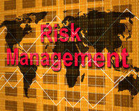 Risk Management Indicates Hazard Danger And Unsteady. Risk Management Meaning Directorate Peril And Directors Stock Image