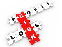Risk management jigsaw puzzle Stock Image