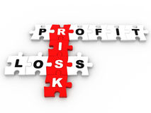 Risk management jigsaw puzzle Royalty Free Stock Images