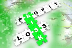 Risk management jigsaw puzzle Stock Photography