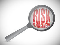 risk management magnify illustration design Stock Image