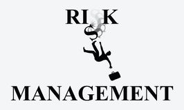 Risk Management Man Falling Illustration. An investor falling from poor risk management Royalty Free Stock Photo