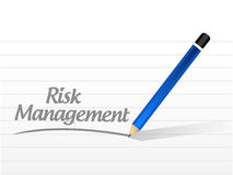 Risk management message illustration Stock Photo
