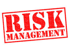 RISK MANAGEMENT. Red Rubber Stamp over a white background Stock Photo
