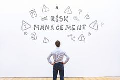 Risk management. Concept, dangers in business Royalty Free Stock Images