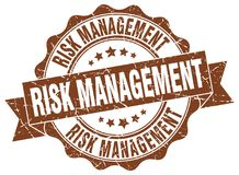 Risk management seal. stamp. Risk management round seal isolated on white background Royalty Free Stock Photography