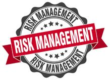 Risk management seal. stamp. Risk management round seal isolated on white background Royalty Free Stock Images