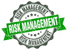 Risk management seal. stamp. Risk management round seal isolated on white background. risk management Stock Image