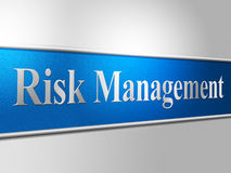 Risk Management Shows Directors Unsafe And Risks Royalty Free Stock Images