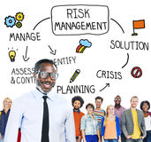 Risk Management Solution Crisis Identity Planning Concept Royalty Free Stock Photos