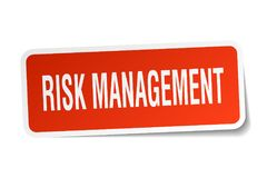 Risk management sticker. Risk management square sticker isolated on white background. risk management Royalty Free Stock Images