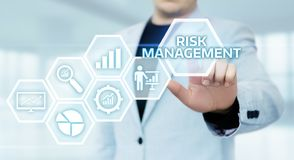 Risk Management Strategy Plan Finance Investment Internet Business Technology Concept stock photo