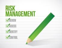 Risk management tick checkmark illustration Stock Photos