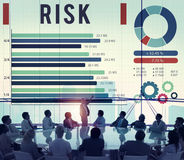 Risk Management Unsteady Safety Security Concept.  Royalty Free Stock Images