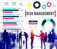Risk Management Unsteady Safety Security Concept.  Stock Photos