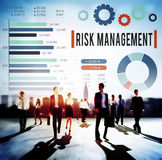 Risk Management Unsteady Safety Security Concept.  Royalty Free Stock Image