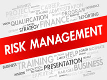 RISK Management word cloud collage. Business concept background Stock Photos